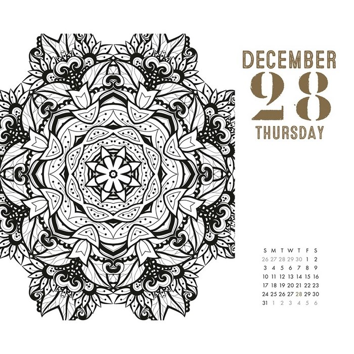 page a day calendar coloring pages - photo #48
