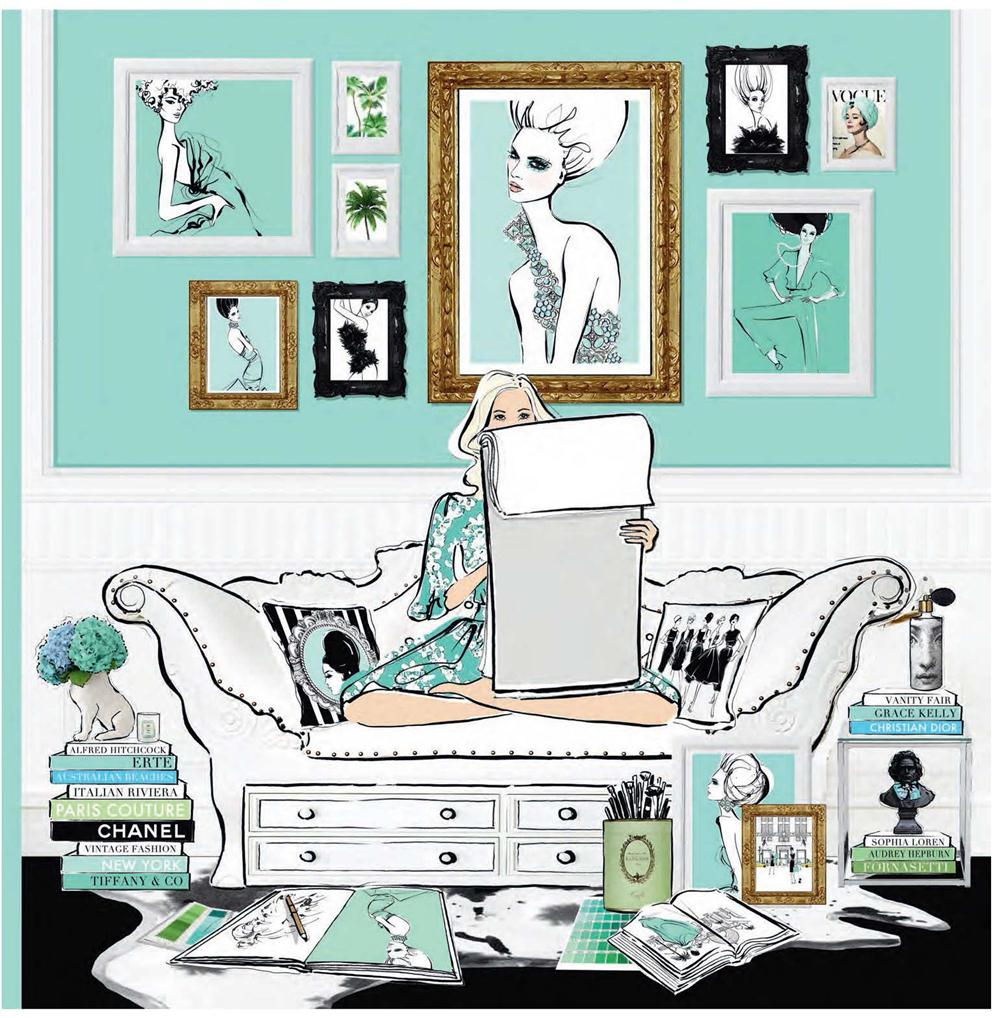 Fashion House, Illustrated Interiors From The