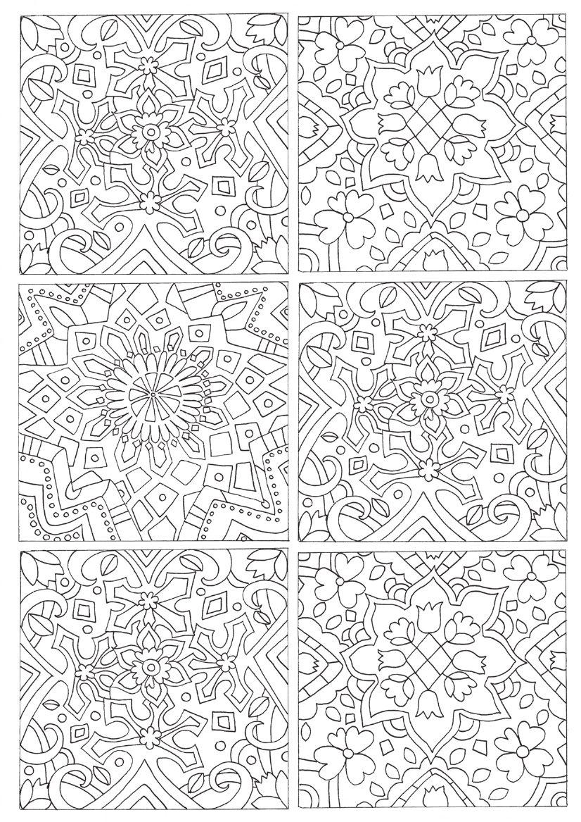 Colouring Patterns Books : New patterns from around the world colouring book by