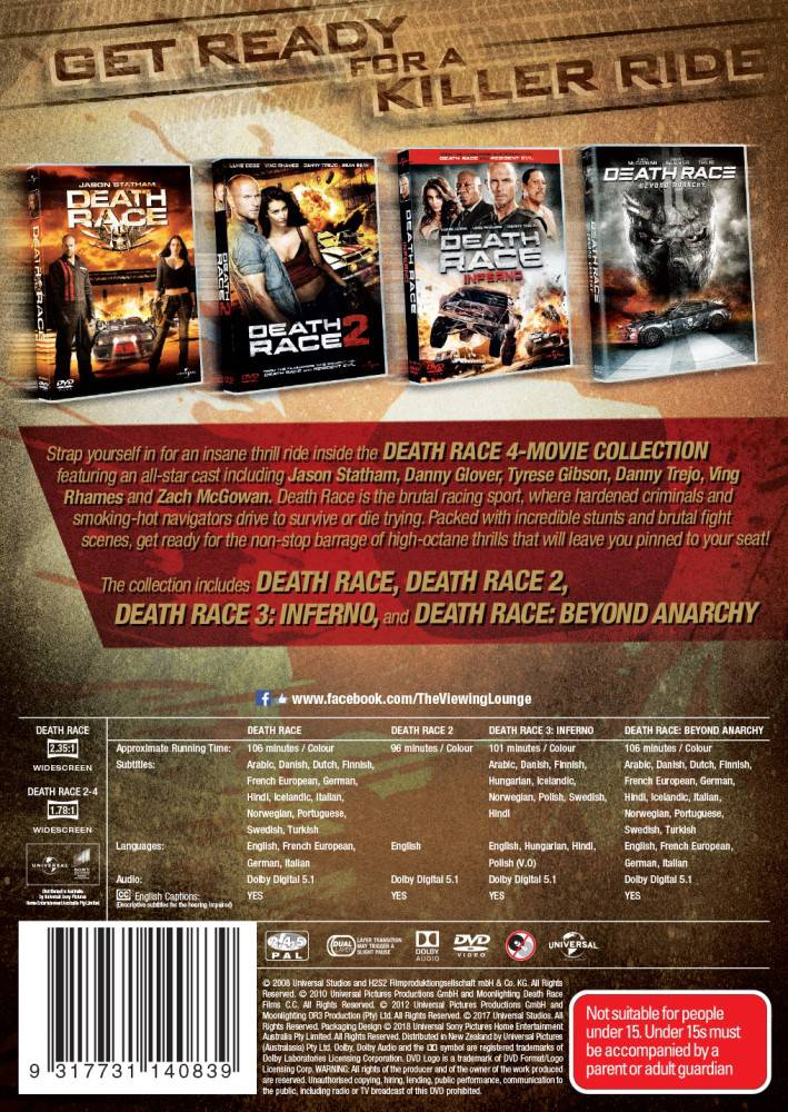 Death Race | 9317731140839 | Booktopia