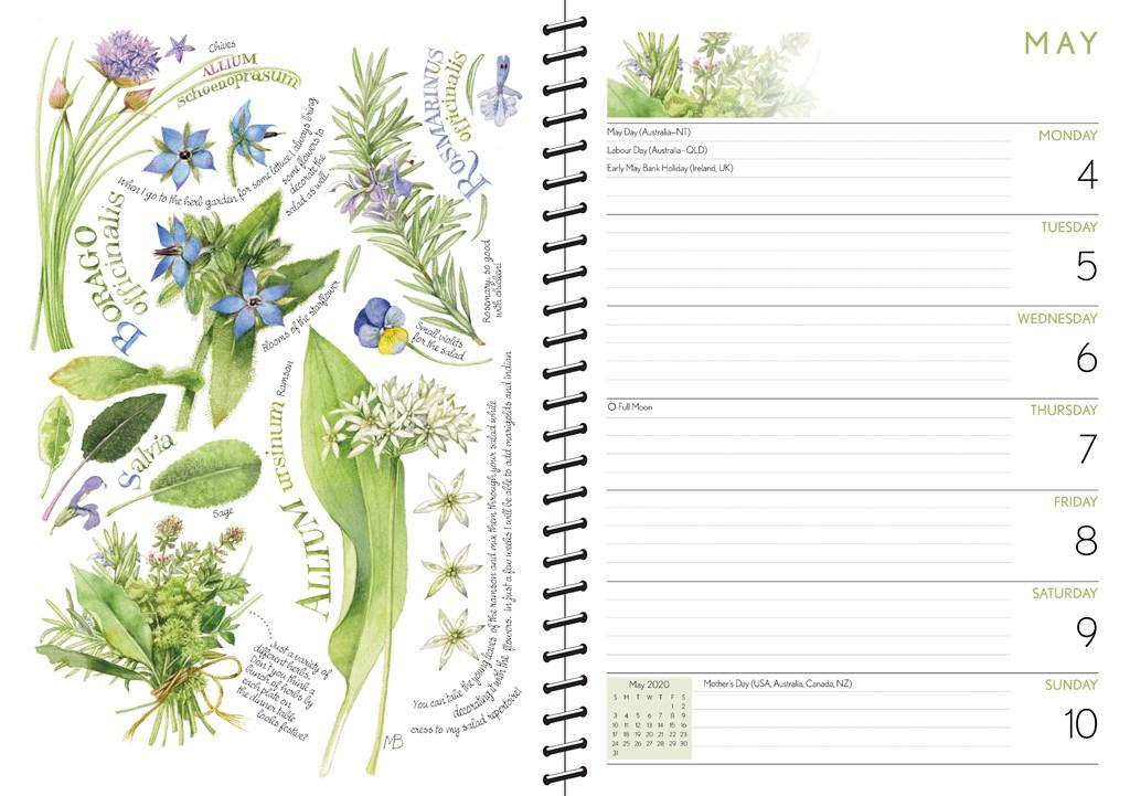 Nieuw Marjolein Bastin 2020 Monthly/Weekly Diary by Marjolein Bastin TT-89