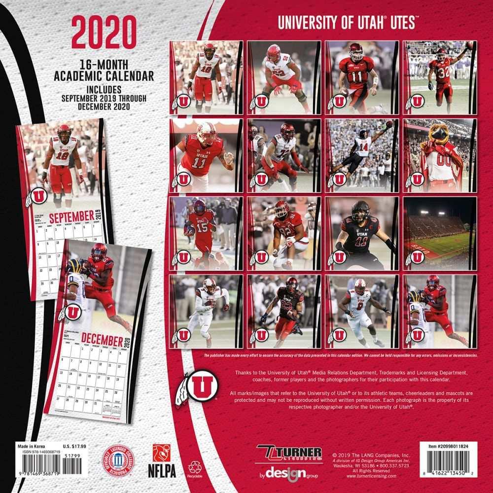 university of utah academic calendar 2020