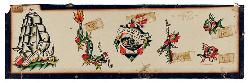Vintage Tattoo Flash 100 Years Of Traditional Tattoos From The