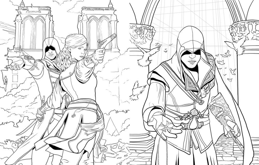 Assassin S Creed Official Coloring Book By Insight Editions