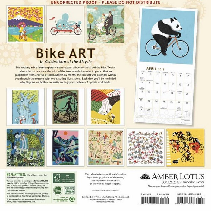 Art Calendar Book : Booktopia bike art calendar in celebration of