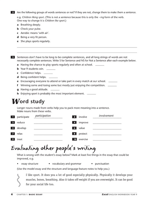 excel year 9 english workbook pdf