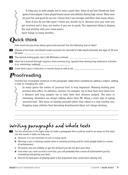Booktopia excel year 9 english workbook english workbook year 9 take a look inside fandeluxe Images