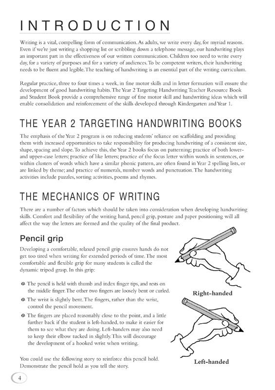 nsw targeting handwriting year 2 teacher resource book by jane pinsker 9781740203005. Black Bedroom Furniture Sets. Home Design Ideas