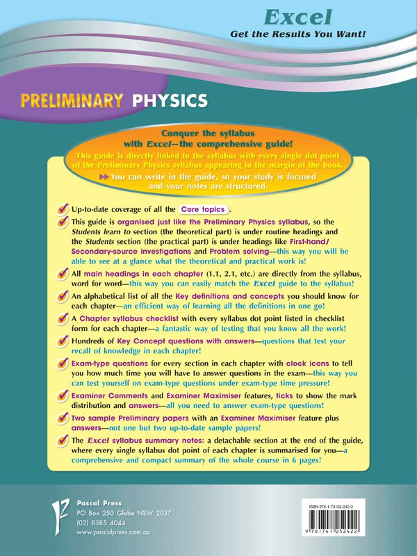 Excel Preliminary Physics, Year 11 by Excel | 9781741252422 | Booktopia
