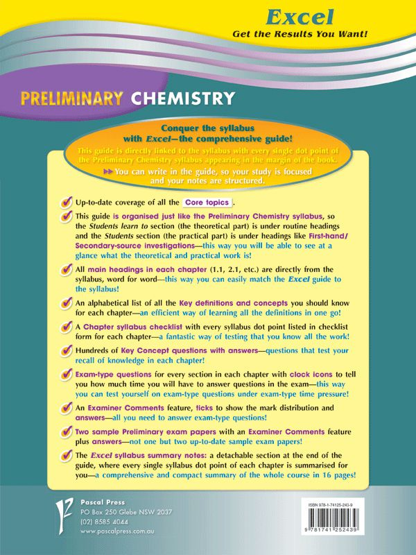 Excel Preliminary Chemistry , Year 11 by Excel