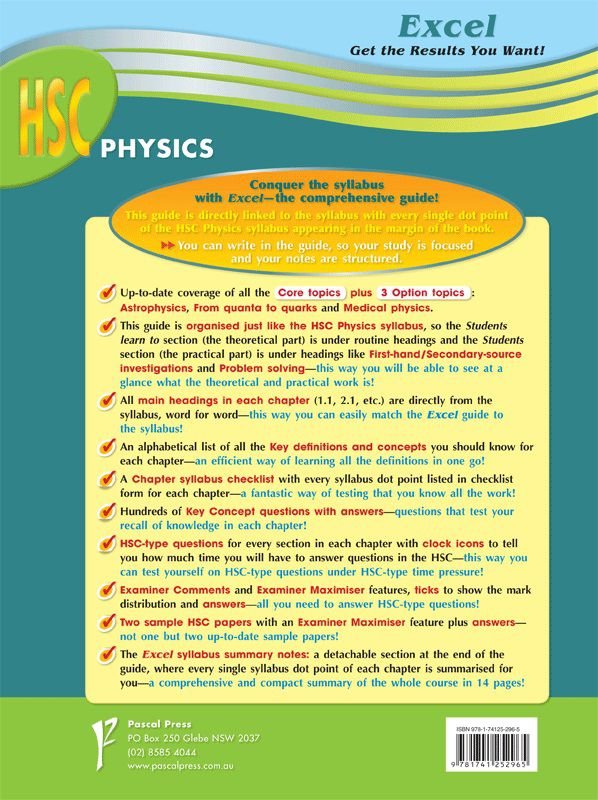 Excel HSC Physics, Excel Study Guide by Neville Warren