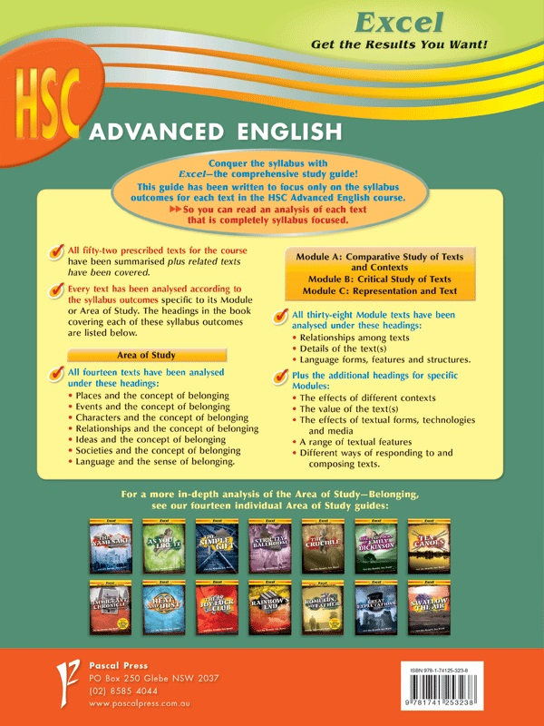 Excel HSC Advanced English, Year 12 by Excel | 9781741253238 | Booktopia