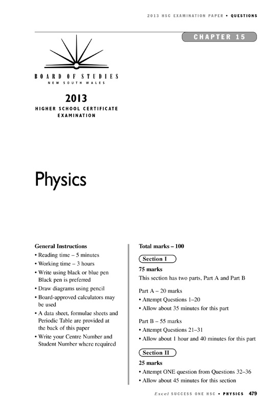 Excel Success One, HSC physics 2014 by Excel | 9781741254730