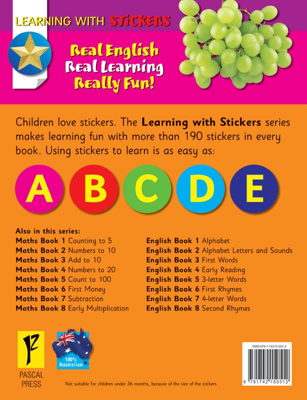 Booktopia english book 2 alphabet letters and sounds learning take a look inside expocarfo Image collections