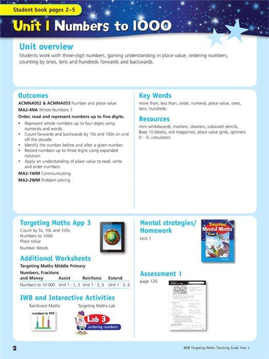 Nsw Targeting Maths Teaching Guide Year 3 Australian