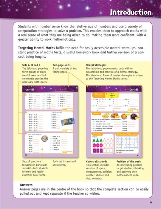 Booktopia - Targeting Mental Maths Year 4, Australian Curriculum ...