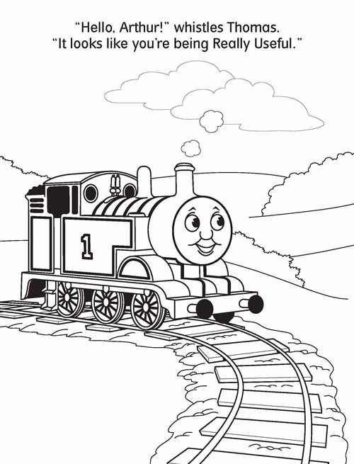 Arthur Thomas And Friends Coloring Pages - Worksheet & Coloring Pages