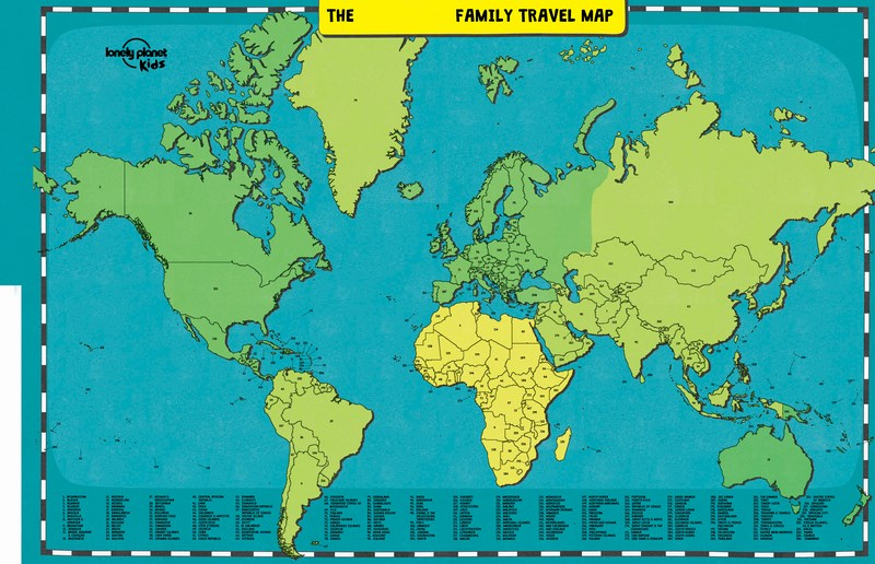 Booktopia my family travel map lonely planet kids by lonely my family travel map gumiabroncs Choice Image