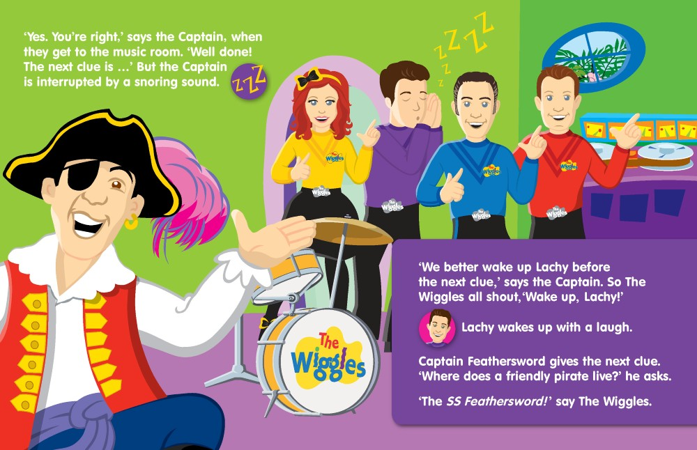 The Wiggles - Capt  Feathersword's Treasure Hunt! Sound Book by The