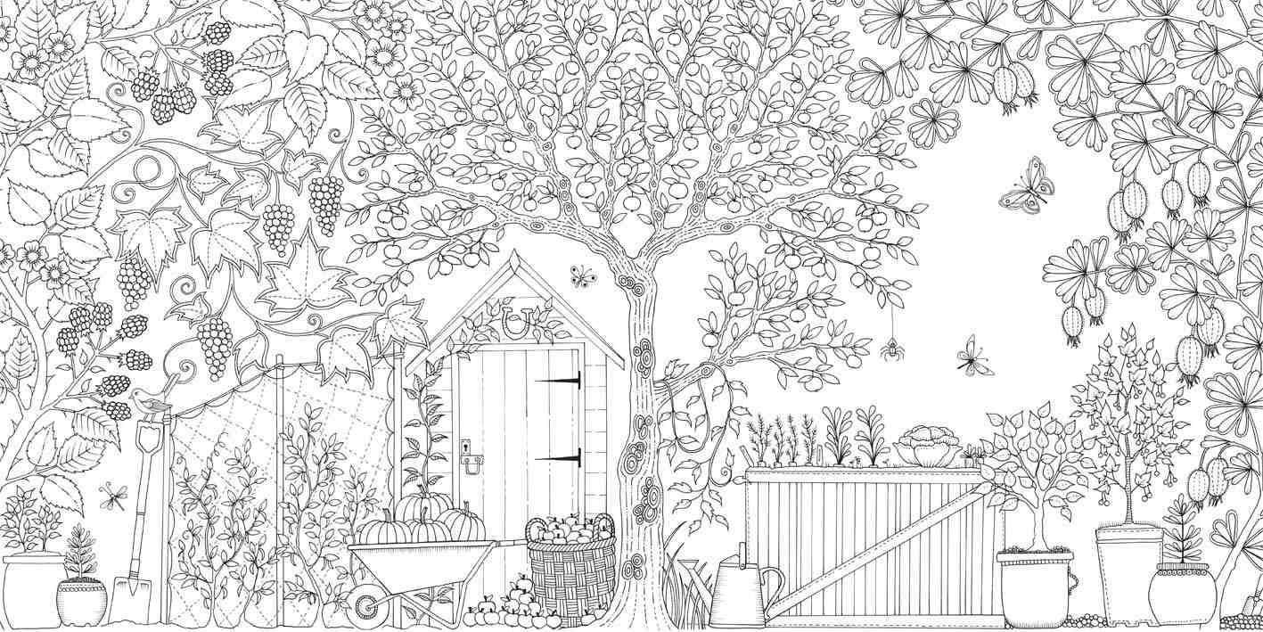 Secret Garden An Inky Treasure Hunt And Colouring Book By