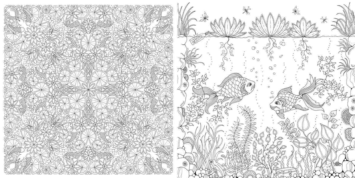It is an image of Intrepid coloring books secret garden