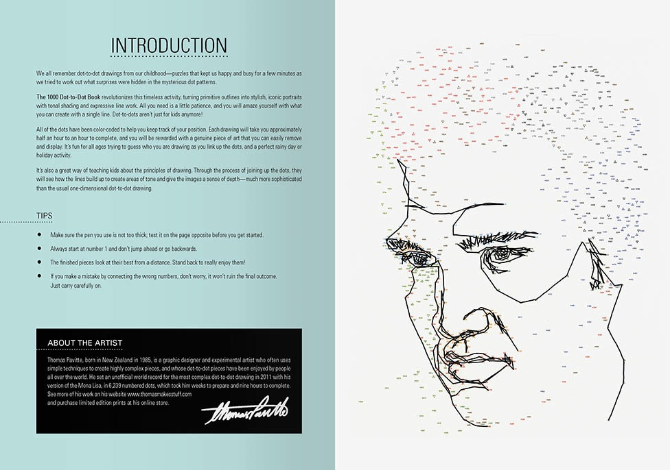 The 1000 Dot To Dot Book Twenty Iconic Portraits To Complete Yourself By Thomas Pavitte 9781781571040 Booktopia