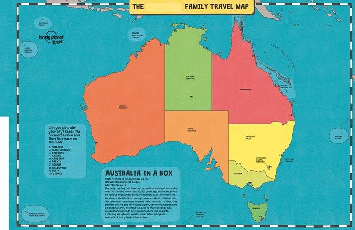 Booktopia My Family Travel Map Australia Lonely Planet Kids by