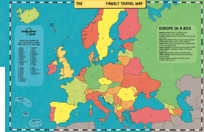 Booktopia my family travel map europe lonely planet kids by my family travel map europe gumiabroncs Choice Image