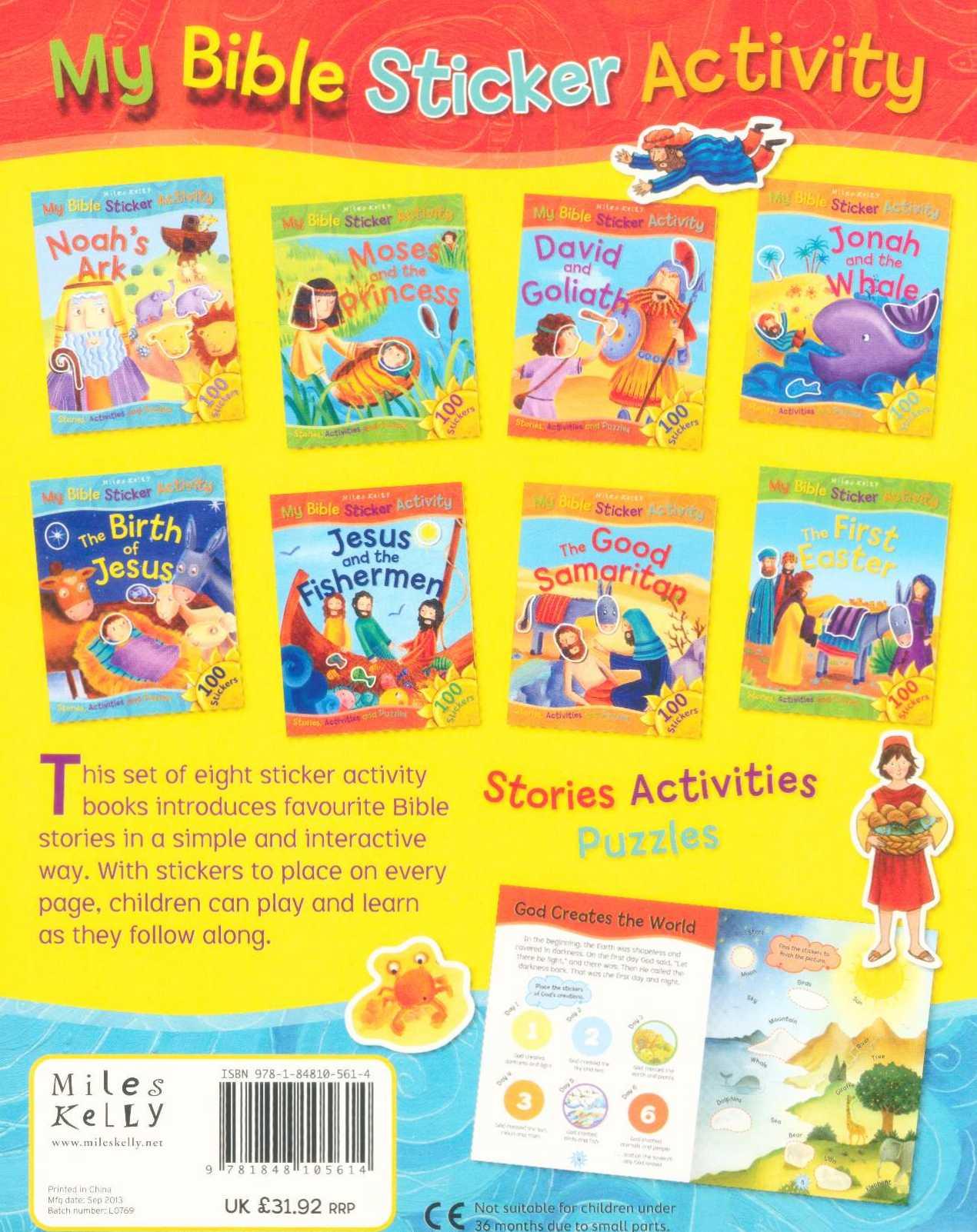 My Bible Sticker Activity - Eight Book Pack, Stories Activities
