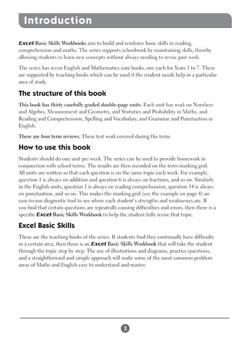 Booktopia - Excel Basic Skills English and Mathematics , Year 4 Ages ...