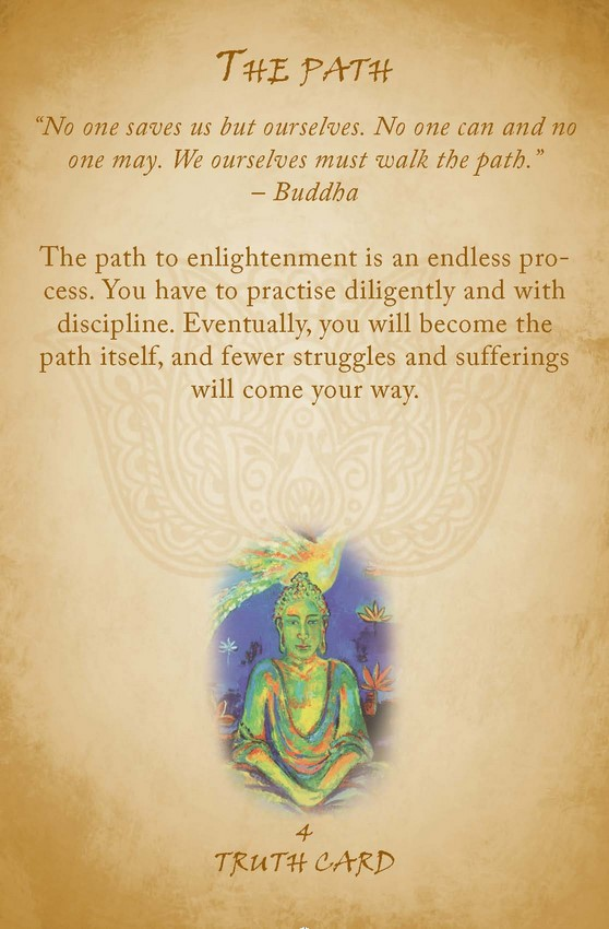 buddhist reading cards  wisdom for peace  love and