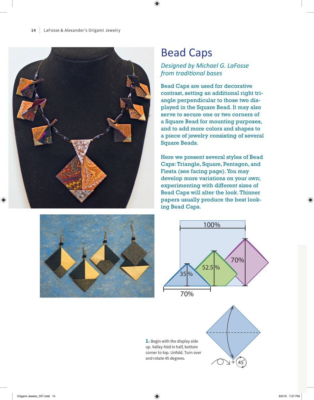 Lafosse And Alexanders Origami Jewelry Easy To Make Paper Pendants Science Fiction Diagrams Description